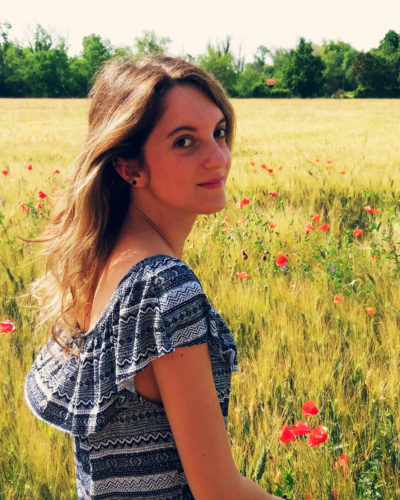 Laura Cocconi in a Poppy field